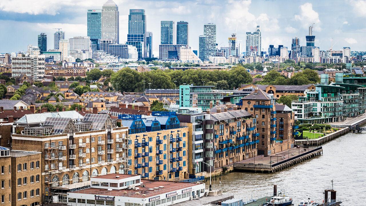 London City Skyline Panoramic View